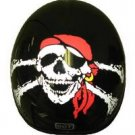 500-DOT Pirate Skull n' Cross Bones helmet