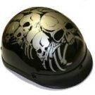 500-DOT Silver Boneyard Helmet