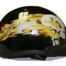 500-DOT Flaming Skull Helmet