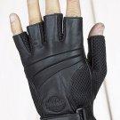 Fingerless Riding Gloves w/ Gel & Velcro Strap