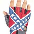Rebel Flag Fingerless Gloves