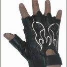 White Flame Fingerless Gloves