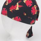 Cotton Skull Cap w/ Flames