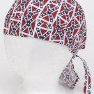 Cotton Skul Cap w/ Small Rebel Flags