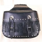 PVC-Large Heritage Bag w/ Fringes, Studs & Concho, Straight