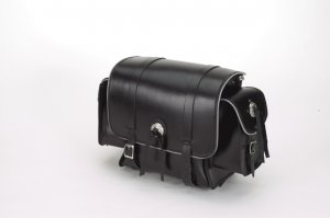 Motorcycle PVC Sissybar Bag with Light Reflector & Velcro on Back
