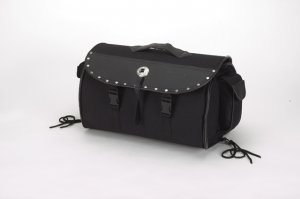 Fine Quality PVC like leather Sissybar Bag w/ Studs & Velcro on Back sb81