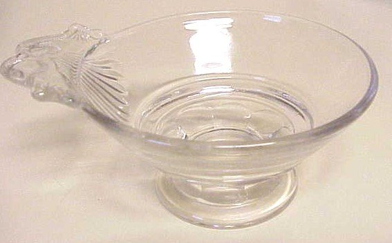 EAPG Footed Sauce or Berry Bowl Tabbed Handle Victorian Glass