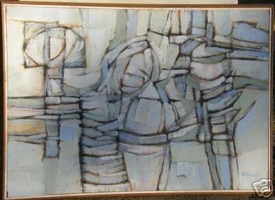Leland Staven Abstract Art The Blues '66 Georgia Artist