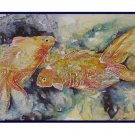 Eight Watercolor Two Goldfish Greeting Note Cards Notecards