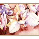 8 Watercolor White Magnolia Greeting Note Cards Notecards