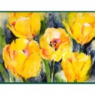 8 Watercolor Yellow Tulip Note Cards Notecards