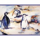 Watercolor Penguin Note Cards Notecards