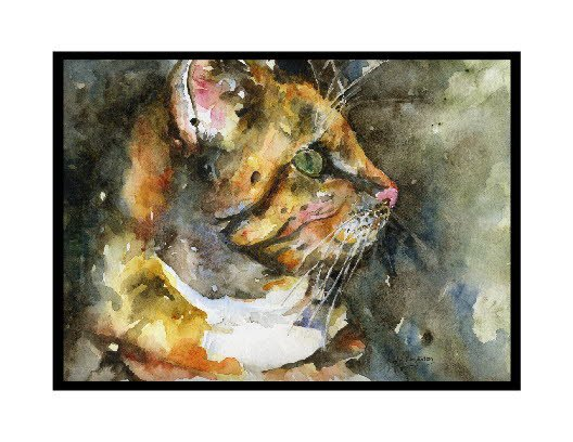 Set of 8 Watercolor Cat Notecards