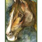 Set of 8 Watercolor Quarter Horse Note Cards