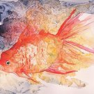 Watercolor Goldfish Giclee Print