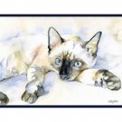 Watercolor Siamese Cat Notecards, Note cards