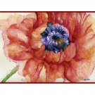 Watercolor Red Poppy Note Cards