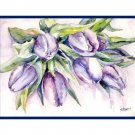 Watercolor Blanket of Tulips Note Cards