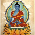 Blue Healing Medicine Buddha Asian Art Print