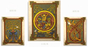 Celtic Book of Kells Art Print Set