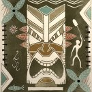 Tropical Hawaiian Tiki God Tribal Art Print