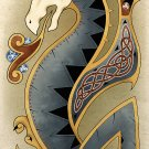 Celtic Dragon Art Poster Print