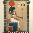 Egyptian Art Print Ancient Cat Goddess Bastet Wall Decor