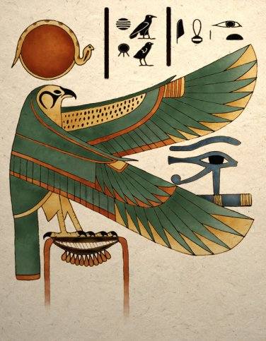 Ancient Egyptian Horus Falcon Art Print Wall Decor