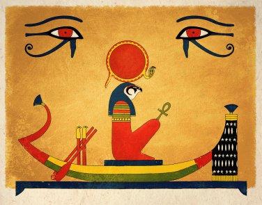 Ancient Egyptian Art Print Sun God Ra Wall Decor