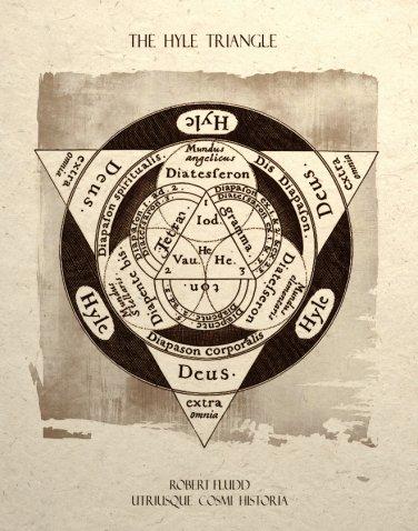 Alchemy Triangle Design Art Print Sacred Geometry