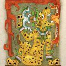 Ancient Aztec Jaguar God Art Print Mayan