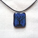 Dichroic glass pendant,tree of life pendant,fused glass