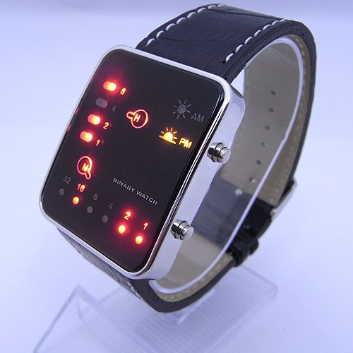 """(FREE SHIPPING WITH TRACKING) THE """" BRAIN TRAIN """" DIGITAL BINARY LED WATCH - SALE PRICE"""