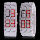 THE ALL NEW SAMURAI LAVA RED WHITE PLASTIC LED FASHION WRIST WATCH