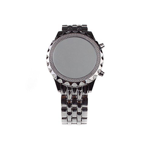 LED Mirrored Face Stainless Steel Wristband LED Wrist Watch (FREE SHIPPING)