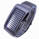 (FREE SHIPPING WITH TRACKING) Stainless Steel Digital Binary Mens White LED Watch