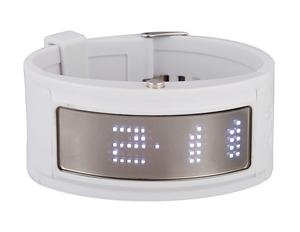 White Cuff Dot Matrix Rubber Digital LED Watch FREE SHIPPING WITH TRACKING