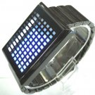 NEW 2013 TOUCH SCREEN DIGITAL BINARY 72 BLUE & WHITE LED FASHION WRIST WATCH