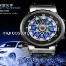 NEW 2014 EXCLUSIVE MOTORSPORT Y SPOKE ALLOY RIM WHEEL LED WATCH