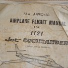 FAA APPROVED  AIRPLANE FLIGHT MANUAL  FOR  1121  Jet COMMANDER