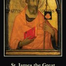 St. James the Greater Prayer Card #198