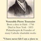 Venerable Pierre Toussaint Prayer Card PC#179