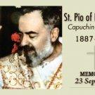 ST PIO OF PIETRELCINA - PADRE PIO PRAYER CARD PC#26