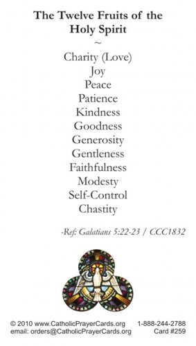 Gifts & Fruits of the Holy Spirit Prayer Card PC#259
