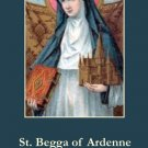 St. Begga Prayer Card PC#233