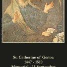 St. Catherine of Genoa Prayer Card PC#217