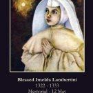 Blessed Imelda Lambertini Prayer Card PC#183