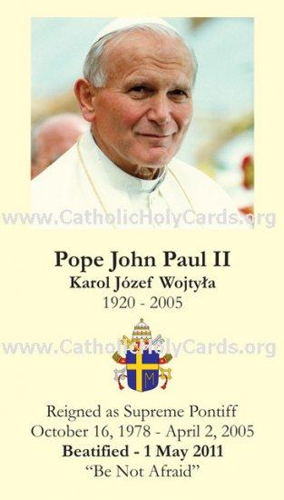 *NEW* ENGLISH Special Limited Edition Commemorative John Paul II Beatification Prayer Card PC#279
