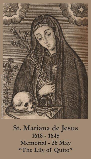 St. Mariana of Jesus Holy Card PC#304